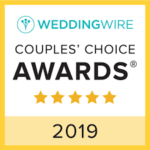 WeddingWire badge for the 2019 Couples' Choice Awards